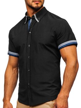 Men's Short Sleeve Shirt Black Bolf 2911