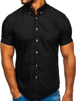 Men's Short Sleeve Shirt Black Bolf 5528
