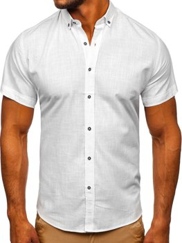 Men's Short Sleeve Shirt White Bolf 20501