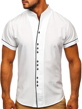 Men's Short Sleeve Shirt White Bolf 5518
