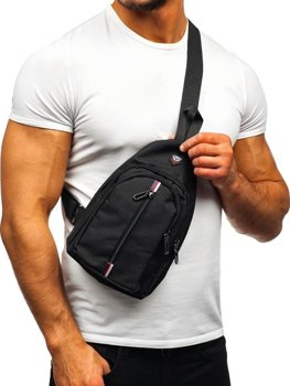 Men's Shoulder Bum Bag Black Bolf T46