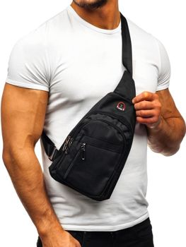 Men's Shoulder Bum Bag Black Bolf T47