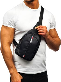 Men's Shoulder Bum Bag Black Bolf T49