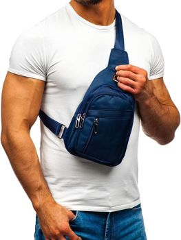 Men's Shoulder Bum Bag Navy Blue Bolf T50
