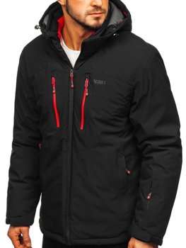 Men's Ski Jacket Black-Red  Bolf BK193