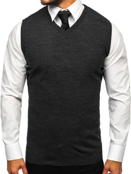 Men's Sleeveless Jumper Anthracite Bolf 2500