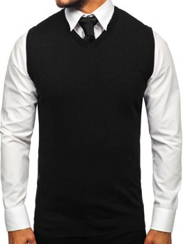 Men's Sleeveless Jumper Black Bolf 2500