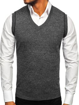 Men's Sleeveless Jumper Black Bolf 8121