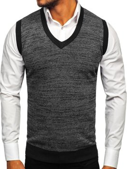 Men's Sleeveless Jumper Black Bolf 8131