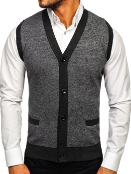 Men's Sleeveless Jumper Black Bolf 8133