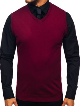 Men's Sleeveless Jumper Claret Bolf 2500
