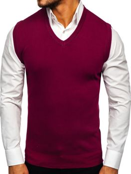 Men's Sleeveless Jumper Claret Bolf H1939
