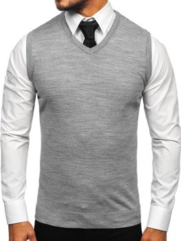 Men's Sleeveless Jumper Grey Bolf 2500