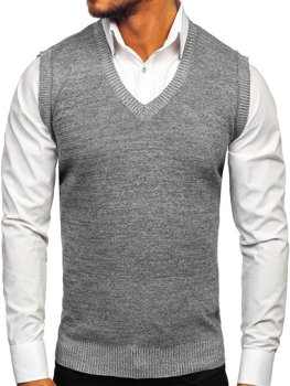 Men's Sleeveless Jumper Grey Bolf 8121