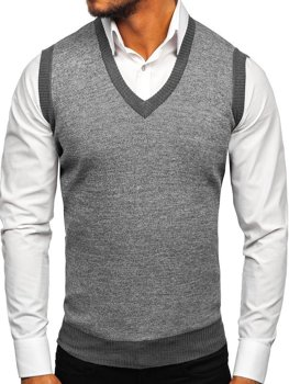 Men's Sleeveless Jumper Grey Bolf 8131