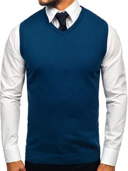Men's Sleeveless Jumper Indigo Bolf 2500