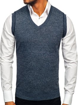 Men's Sleeveless Jumper Navy Blue Bolf 8121