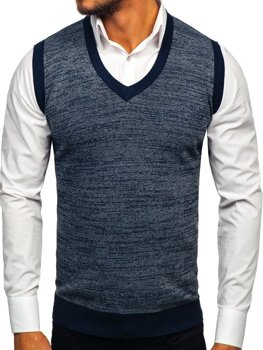Men's Sleeveless Jumper Navy Blue Bolf 8131