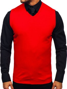 Men's Sleeveless Jumper Red Bolf 2500