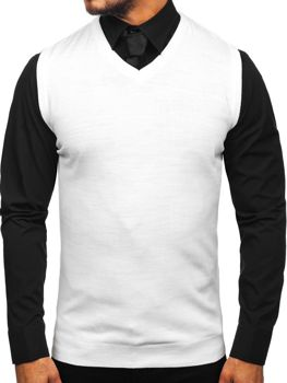 Men's Sleeveless Jumper White Bolf 2500