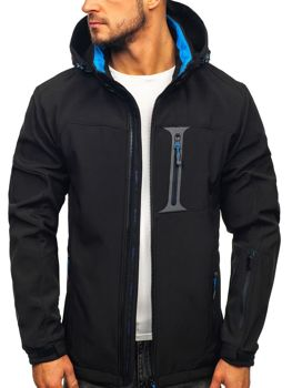Men's Softshell Jacket Black-Blue Bolf 12262