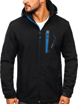 Men's Softshell Jacket Black-Blue Bolf BK017