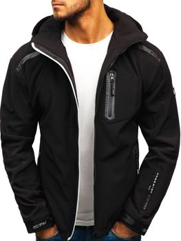 Men's Softshell Jacket Black-Grey Bolf A5526