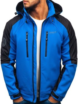 Men's Softshell Jacket Blue Bolf P06