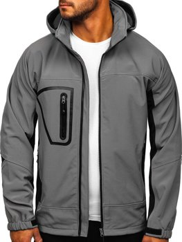Men's Softshell Jacket Grey Bolf T019
