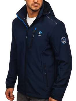 Men's Softshell Jacket Navy Blue-Blue Bolf BK118