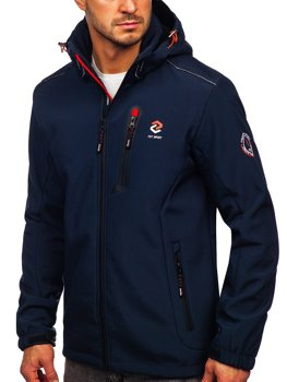 Men's Softshell Jacket Navy Blue-Orange Bolf BK118
