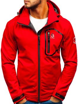 Men's Softshell Jacket  Red Bolf 004a