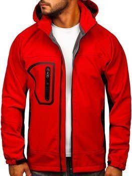 Men's Softshell Jacket Red Bolf T019