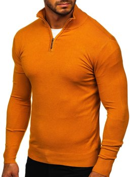 Men's Stand Up Sweater Camel Bolf YY08