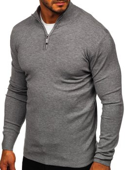 Men's Stand Up Sweater Grey Bolf YY08
