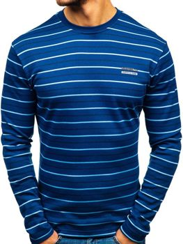 Men's Striped Long Sleeve Top Blue Bolf 1519-A