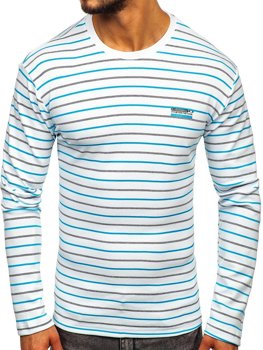Men's Striped Long Sleeve Top White Bolf 1519