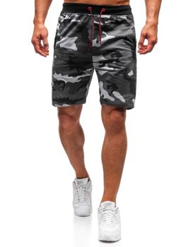 Men's Sweat Shorts Camo-Grey Bolf NP25