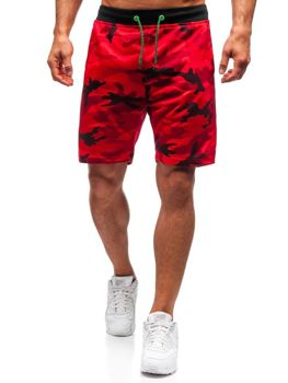Men's Sweat Shorts Camo-Red Bolf NP25