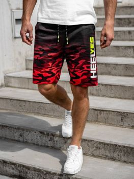 Men's Sweat Shorts Red Bolf KK208