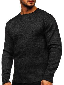 BOLF Mens Plain Sweatshirt Basic Pullover Sweater Ribbed Plain Casual Overhead Sport Style 1A1