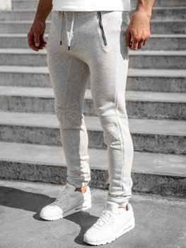 Men's Sweatpants Light Grey Bolf 4966