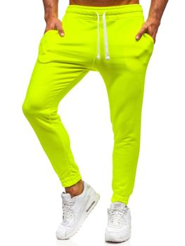 Men's Sweatpants Yellow-Neon Bolf 11121