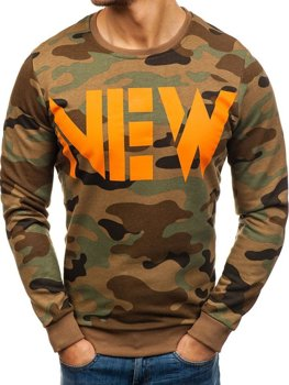 Men's Sweatshirt Camo Green-Orange Bolf 2059