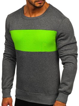 Men's Sweatshirt Graphite-Green Bolf 2021