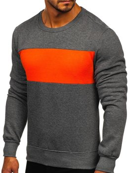Men's Sweatshirt Graphite-Orange Bolf 2021