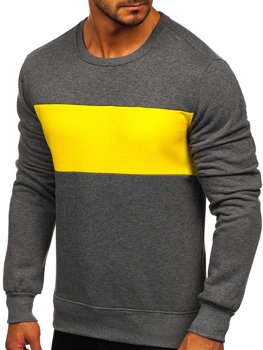 Men's Sweatshirt Graphite-Yellow Bolf 2021