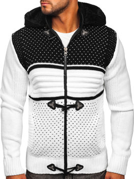 Men's Thick Zip Hooded Sweater White Bolf 2047