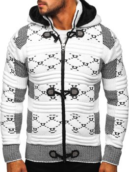 Men's Thick Zip Hooded Sweater White Bolf 2059