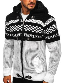 Men's Thick Zip Hooded Sweater White Bolf 2061